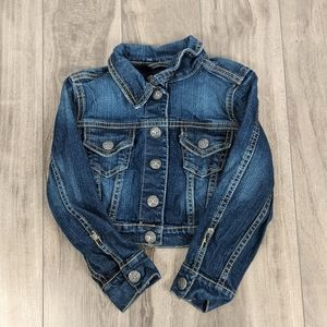 Silver Jeans Toddler Girls Cropped Jean Jacket 4T